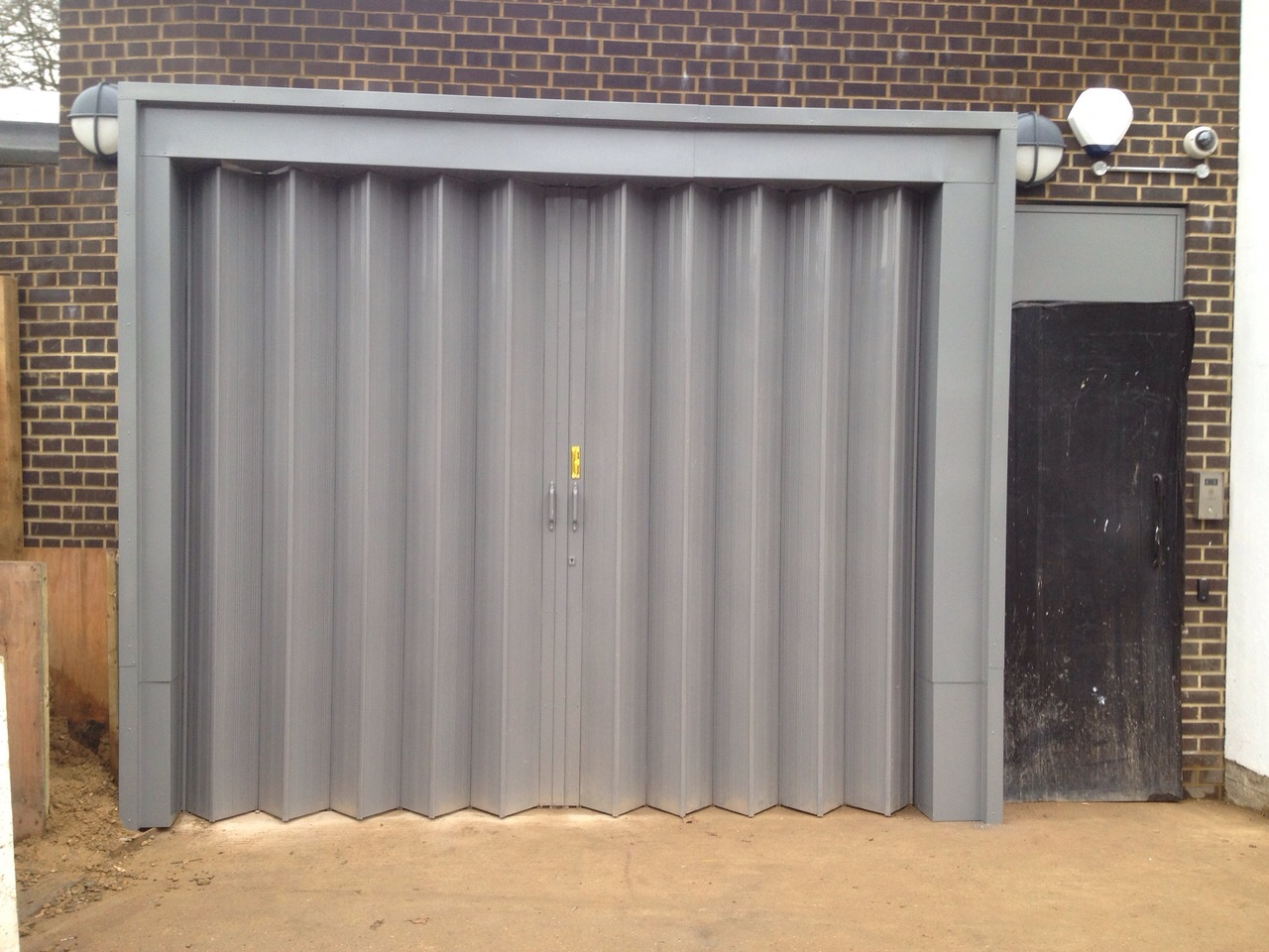 St Pancras Mortuary Industrial Powered Folding Shutter Door