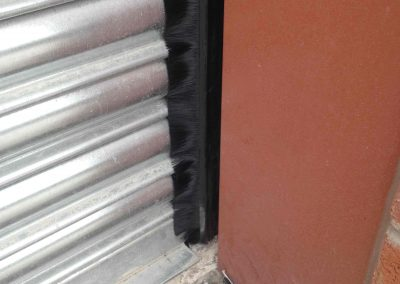 Brush Strip on Roller Shutter