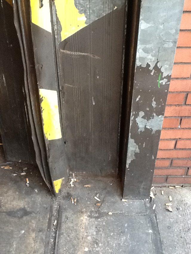 Industrial Door Repairs Required with Bent Panels