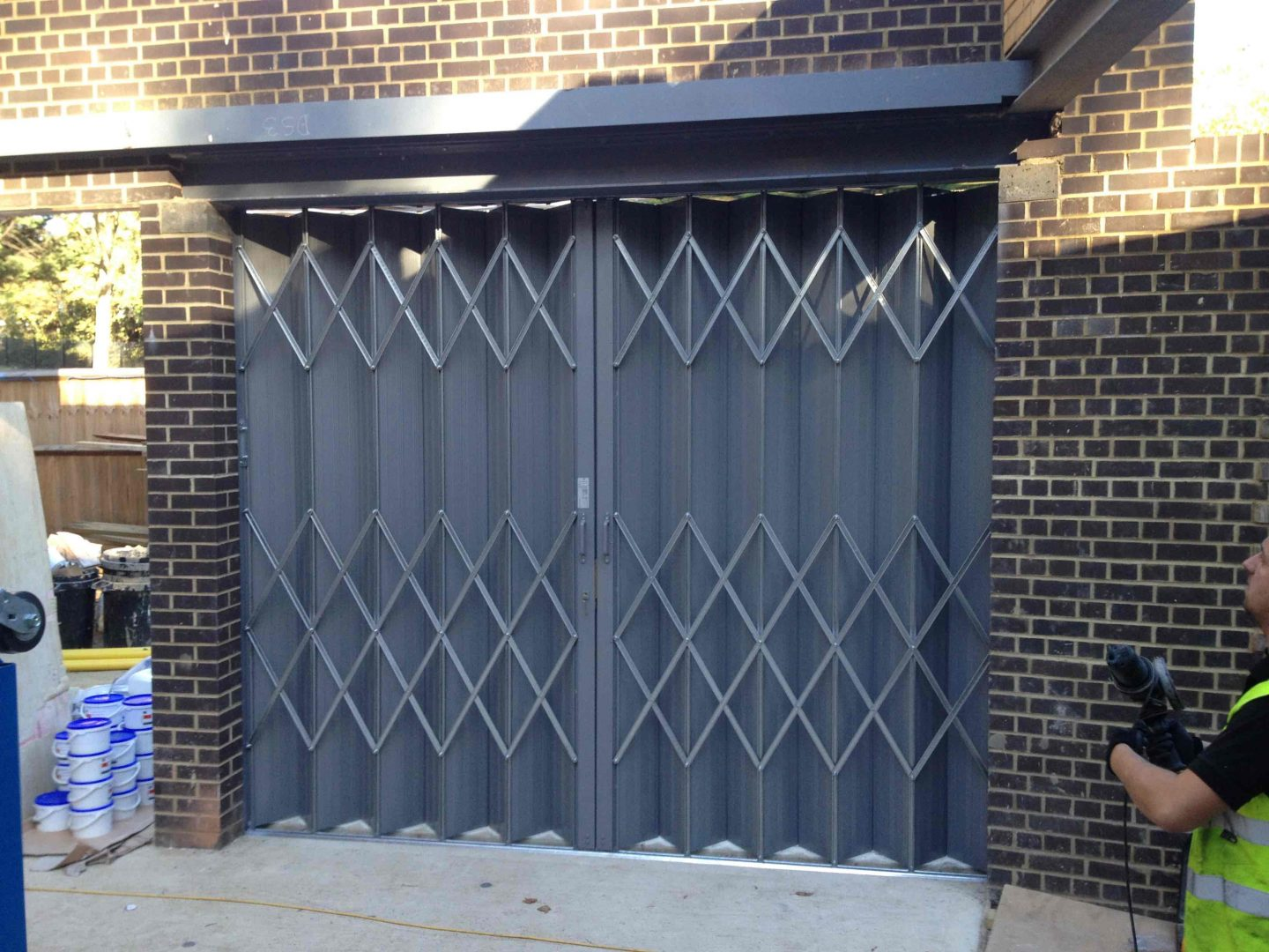St Pancras Mortuary Industrial High Security Folding Shutter Door