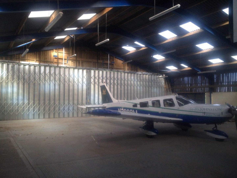 Mark Johnston Racing Aircraft Hangar Door