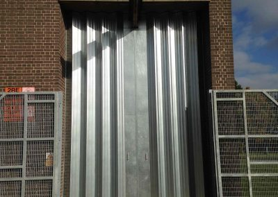 A Ram-Fold Sliding, Folding Shutter - After