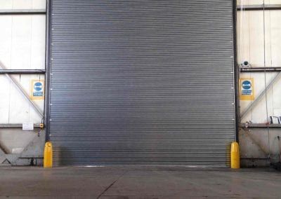 An electrically operated roller shutter at Dalton Barracks.