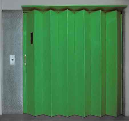 Industrial Folding Shutters for a Lift
