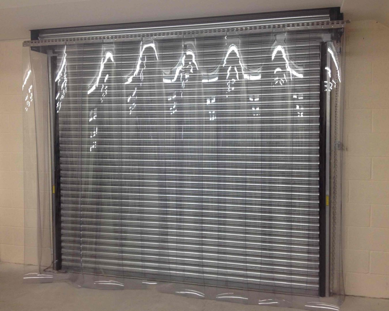 Strip Curtain In Front Of Roller Shutter Alliance Doors