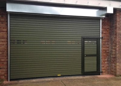 Wicket Gate in Insulated Roller Shutter