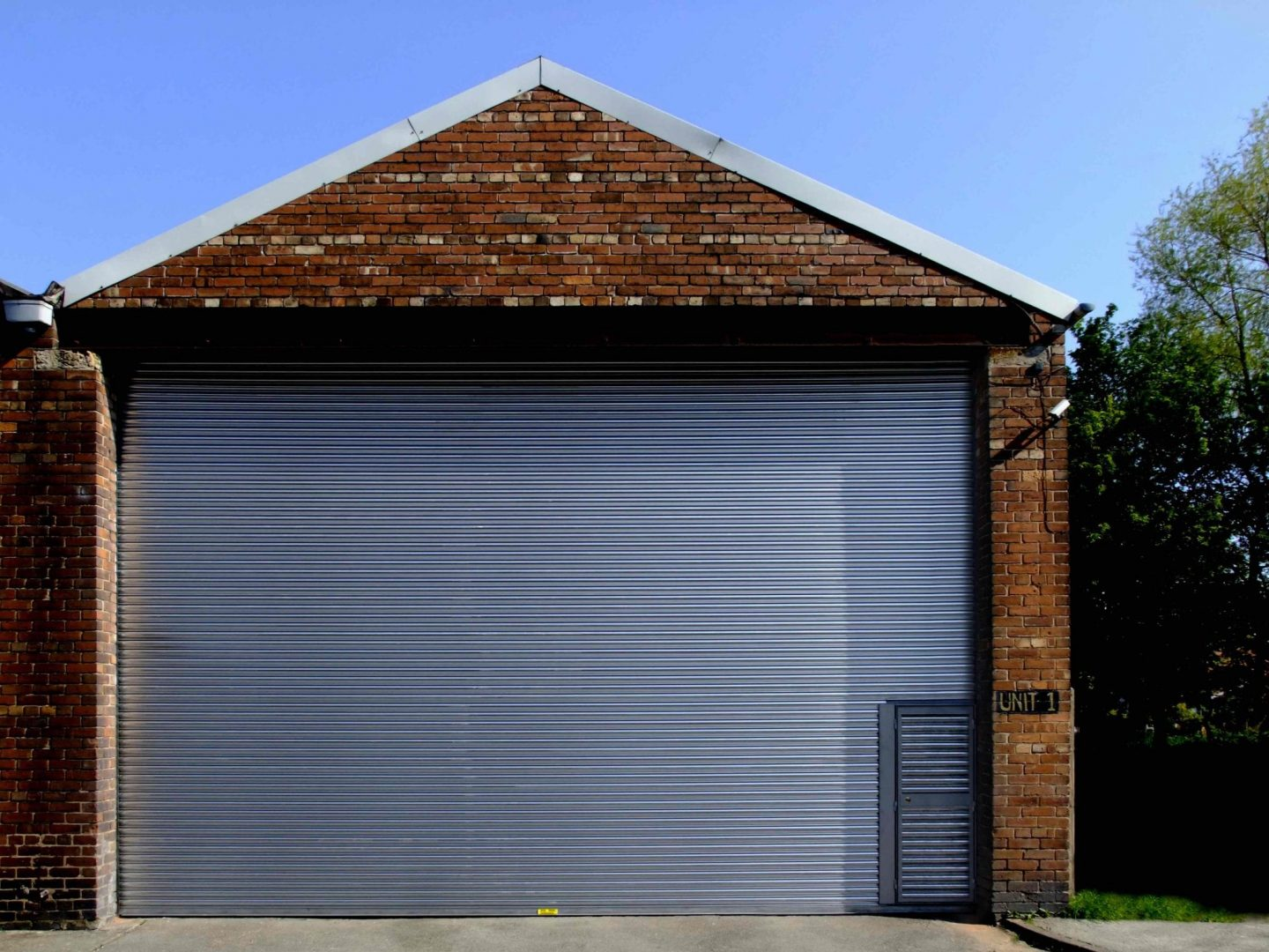 Wicket Gate Wicket Door Set Into A S11 Power Operated Roller